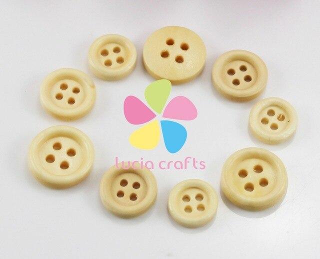 24 шт. 12 мм/13 мм/15 мм 4 отверстия круглые кнопки деревянные швейные для DIY Одежды аксессуары 004010055