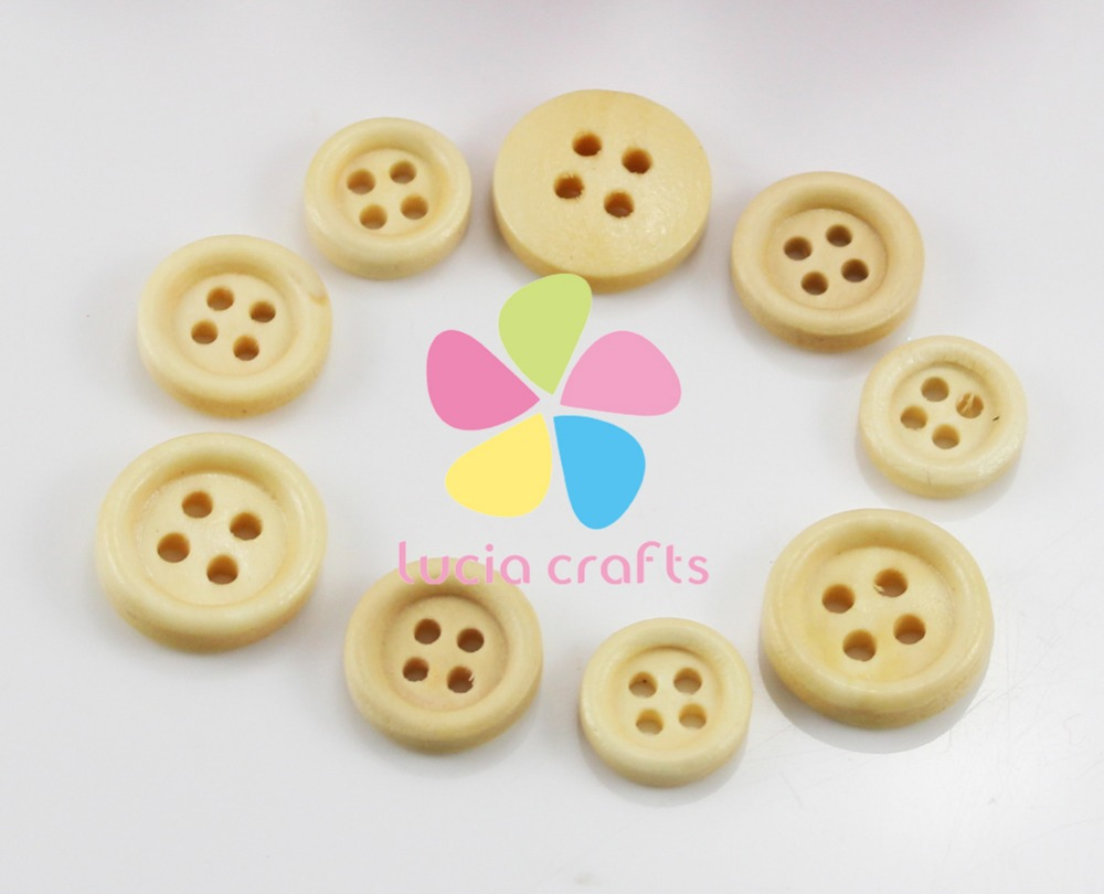 24pcs 12mm/13mm/15mm 4 holes round wood buttons sewing for DIY clothing Garment Accessories 004010055