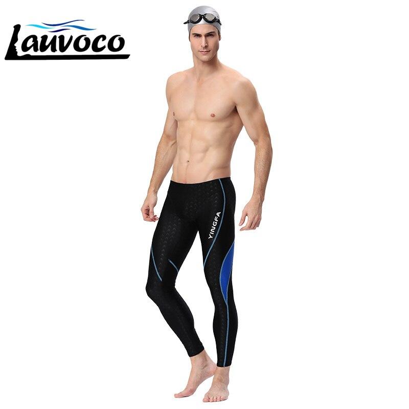 Yingfa Men's Swimming Trunk Waterproof Long Pants Professional Boxer Swimwear Racing Swimsuits Plus Size Sharkskin Beachwear 2XL
