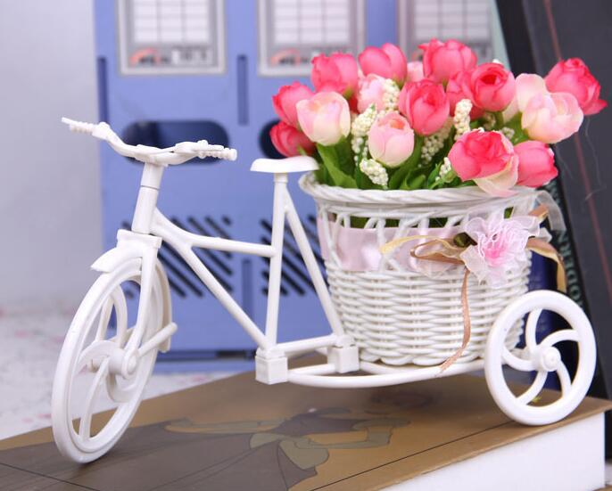Маленький Трехколесный велосипед Цветочная корзина ваза Вазы для хранения Свадебная вечеринка дома сад украшения офиса