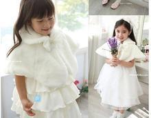 Moq = 1 шт. детская платок платье принцессы платок девушки ну вечеринку платье накидка шерстяной плащ с бантом 2 цвета-розовый