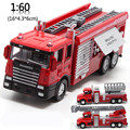 Sale 1:60 alloy fire truck, pull back toys, model cars, children's gifts, special free shipping
