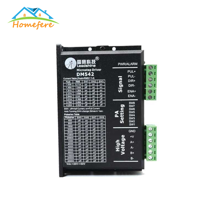 Stepper Motor Driver <font><b>DM442</b></font> DM542 DM556 DMA860H Nema14 16 17 23 34 42 0.5-8.3AA DC9-50V Stepping Motor for CNC Engraving Machine image