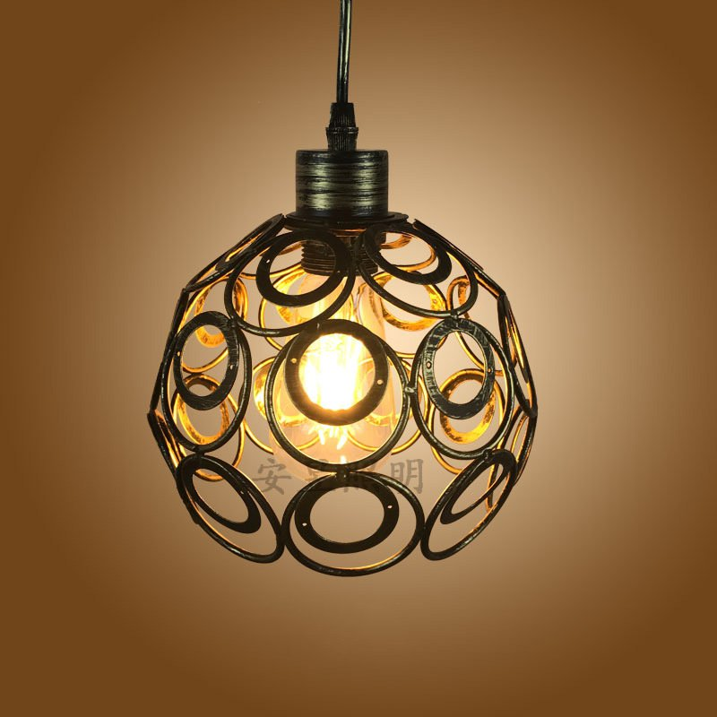 retro indoor lighting vintage pendant lamp creative personality iron
