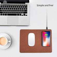 5V-1.5A 9 В/1.2A мобильный телефон ци беспроводное зарядное устройство зарядки Коврик для мыши из искусственной кожи Коврик для Samsung S6 для iPhone 8 P