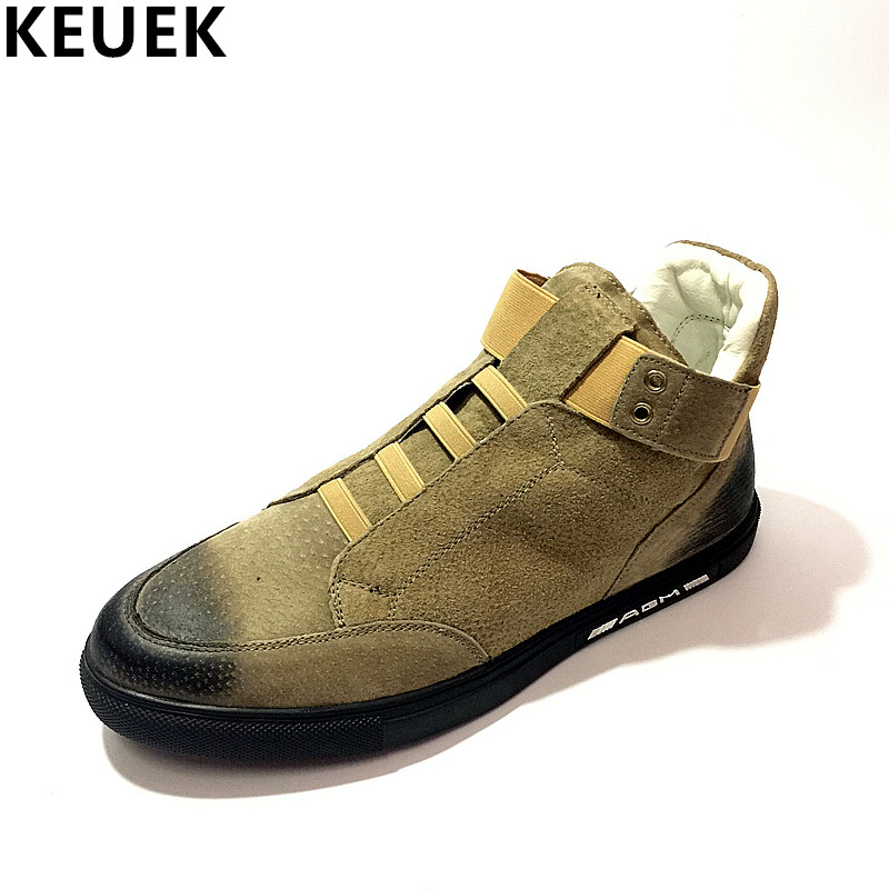 Fashion Men Sneakers High-top shoes Breathable Flats Luxury popular Youth Casual Shoes Male dance Catwalk shoe 03 spring autumn fashion men high top shoes genuine leather breathable casual shoes male loafers youth sneakers flats 3a