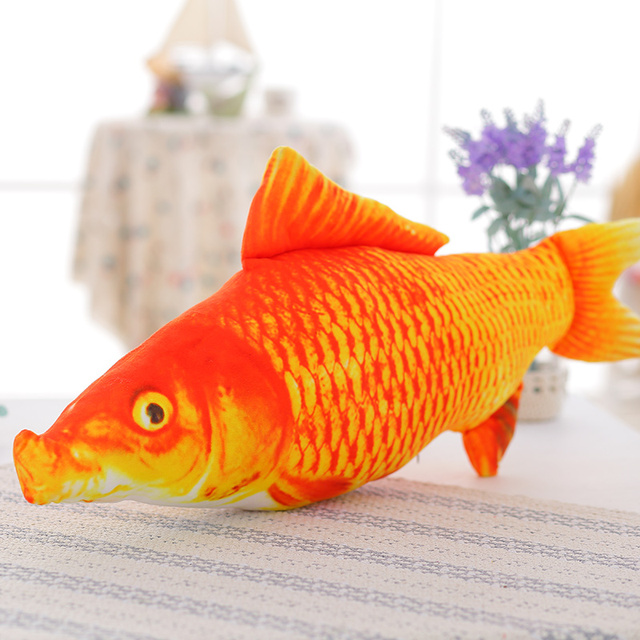 1 Pcs 20 Cm Simulasi Ikan Lembut Ikan Mas Crucian Stuffed Hewan