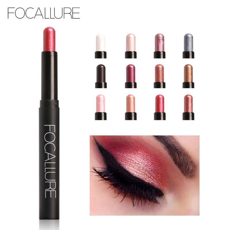 FOCALLURE Lápiz de ojos Brillo de lápiz Luminoso Ojos metálicos - Maquillaje