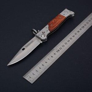 Image 4 - سكاكين صيد تكتيكية عالية الجودة بمساعدة عسكرية مفتوحة مزودة بجيب سكاكين لأغراض القتال الخارجي شفرة قابلة للطي AK47 سكاكين للدفاع عن النفس