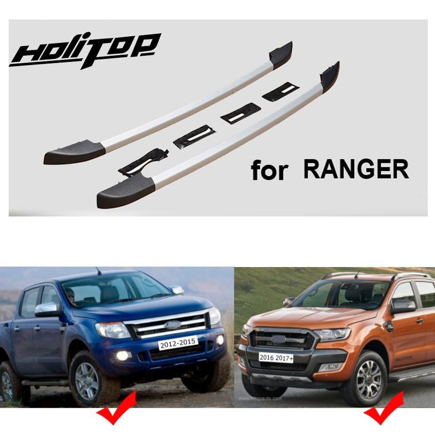 Trilho rack de Teto quente barra de tejadilho para Ford Ranger 2011-2019, o melhor da liga de alumínio, fixar por parafusos em vez de cola barata, garantia de qualidade
