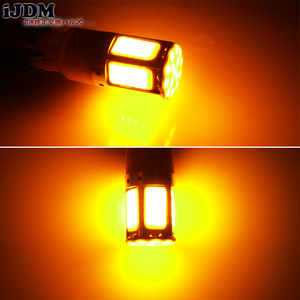 Image 5 - 2pcs No Resistor Required Amber Yellow COB LED BAU15S 7507 PY21W 1156PY LED Bulbs For Front Turn Signal Lights(No Hyper Flash)