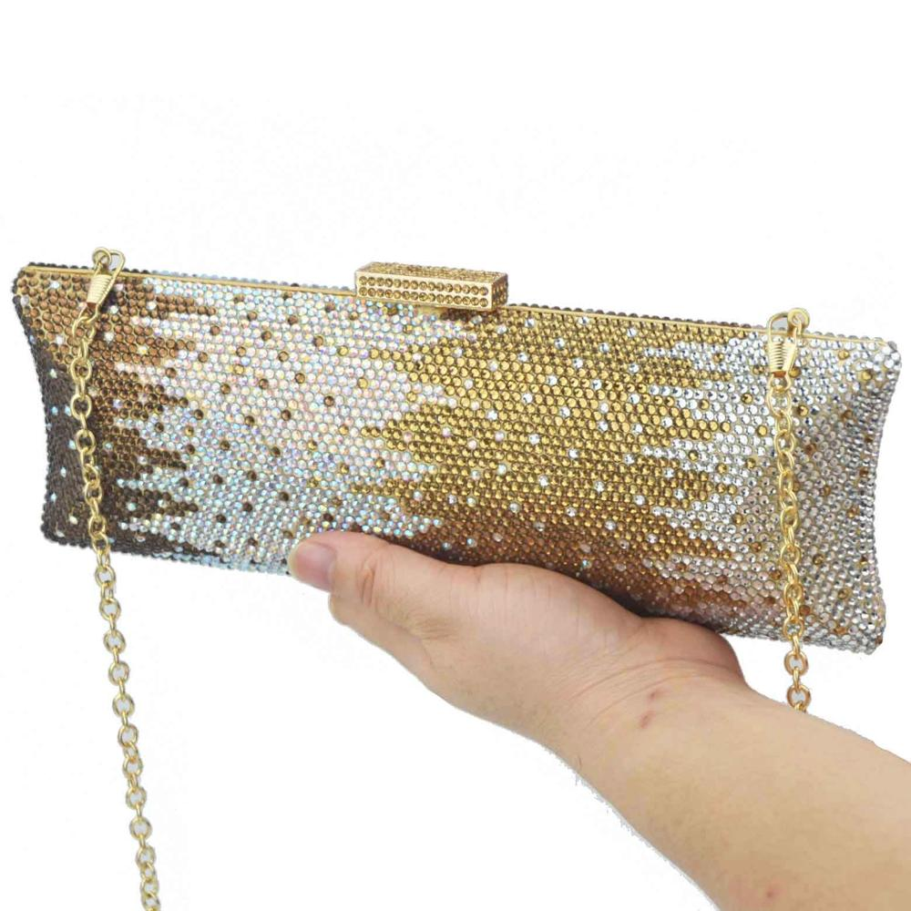 Handbags Clutches Boutique Metal Crystal-Bag Evening-Purse Diamond Women Luxury Bridal
