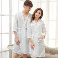 Lovers Towel Bathrobe Men Women Kimono Waffle Bath Robe Male Sleepwear Mens Dressing Gown Badjas Man