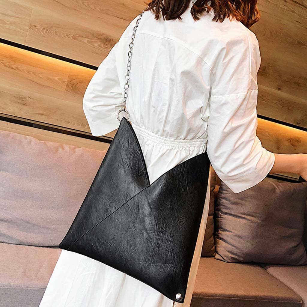 Sacos de corrente retro para as mulheres 2019 moda legal punk couro do plutônio simples senhoras bolsa mensageiro bolsa ombro saco sac a principal femme