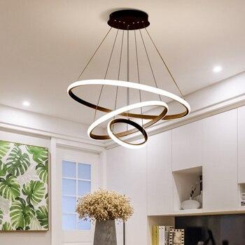 El minimalismo moderno Led colgante luces para comedor, dormitorio y ...