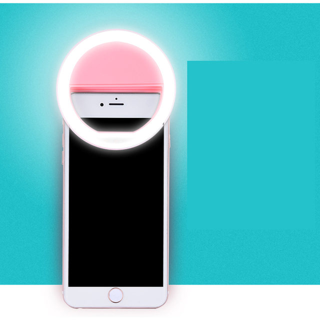 Portable Flash Led Camera Enhancing Photography Selfie Ring Light for Smartphone iPhone 7 plus 7 6s 6 5s 5 4s 4 Samsung Galaxy