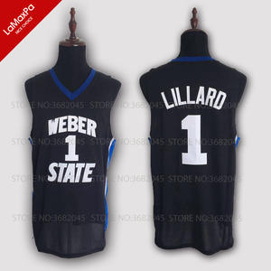 b18cd4f7298 ... italy throwback damian lillard basketball jersey no. 1 weber state  university wildcats cc4db 734d0