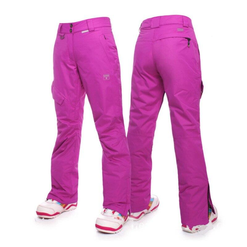 Prix pour Nandn Hiver Snowboard Pantalon pour femmes épaississent le Pantalon de Ski femmes femme neige pantalon thermique étanche esqui ski pantalones