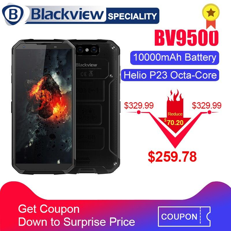 Blackview BV9500 Smartphone MT6763T Octa Core 5.7 18:9 FHD + Écran IP68 étanche Téléphone Portable 10000 mah 4 gb 64 gb 4g Mobile Téléphone