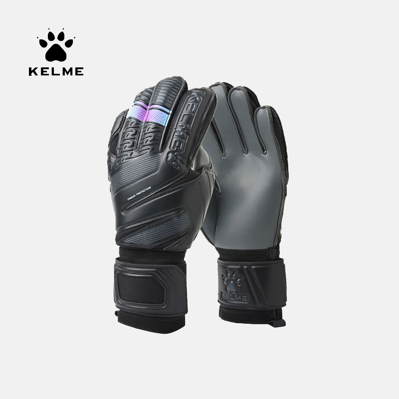 KELME Kids Men Goalie Soccer Gloves Thicken Full Latex Foam Professional Training Football Gloves 5 Finger Save Guard