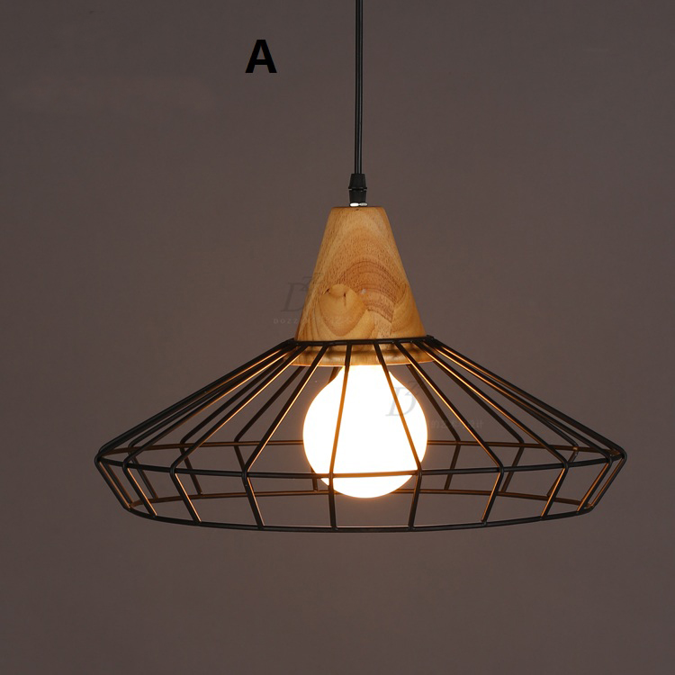 Nordic New Industrial Pendant Lamps American Country Wrought Iron Cage Light  Fixtures Modern Kitchen Dining Room Lighting 220V In Pendant Lights From  Lights ...