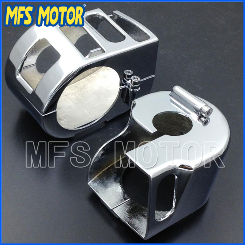 For Yamaha 1999-2012 <font><b>XVS</b></font> V-Star <font><b>1100</b></font> Classic XVS1100 CHROME Motorcycle Switch Housing Cover Motorcycle Accessories image