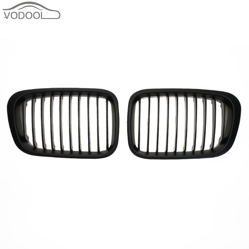 1 Paire ABS Mat Noir Avant De la Voiture Calandre Racing grilles pour BMW E46 98-01318i 320i 325i 330i 1998-2001 Auto accessoires