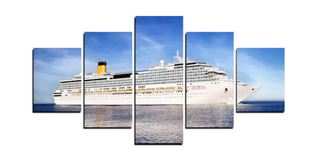 Panels Great Cruise Ship Canvas Prints For Living Room Wall Art - Living on cruise ship
