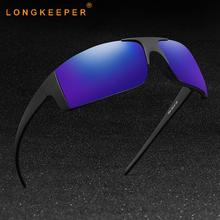 Longkeeper Polarized Sunglasses Men Night Vision Women Rimless Classic Square Mirror Glasses UV400 Oculos De Sol