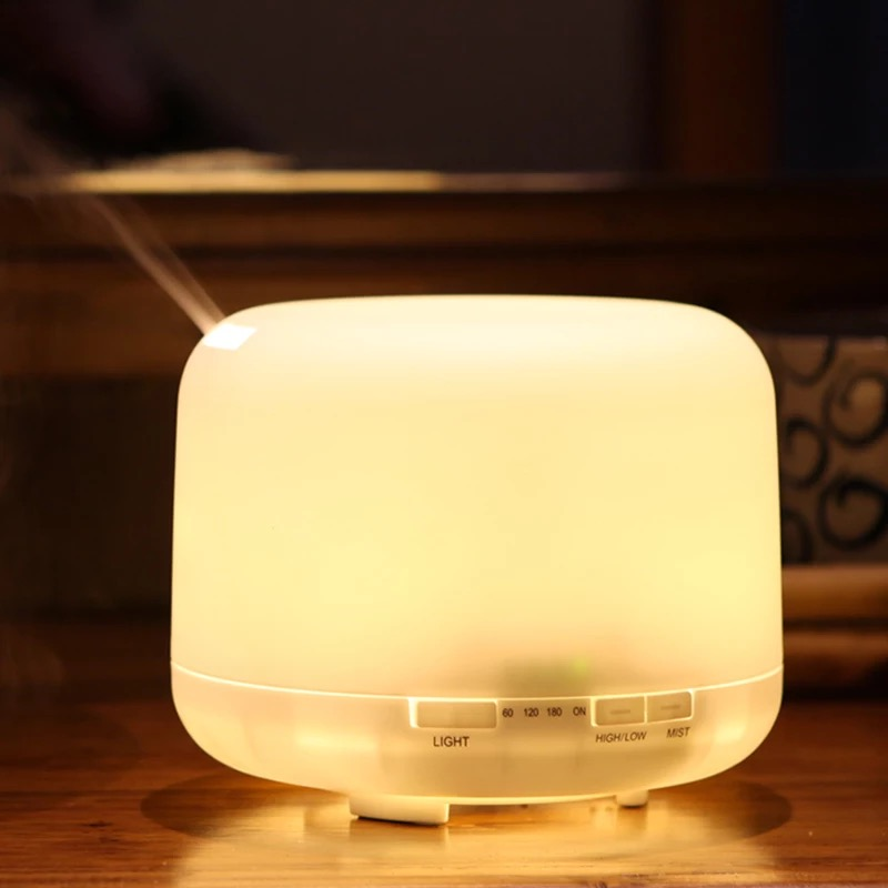 500ML Aroma Diffuser Ultrasonic Air Humidifier With 7 Color LED Lights For Home Ultrasonic Humidifier Aromatherapy Diffuser цена и фото