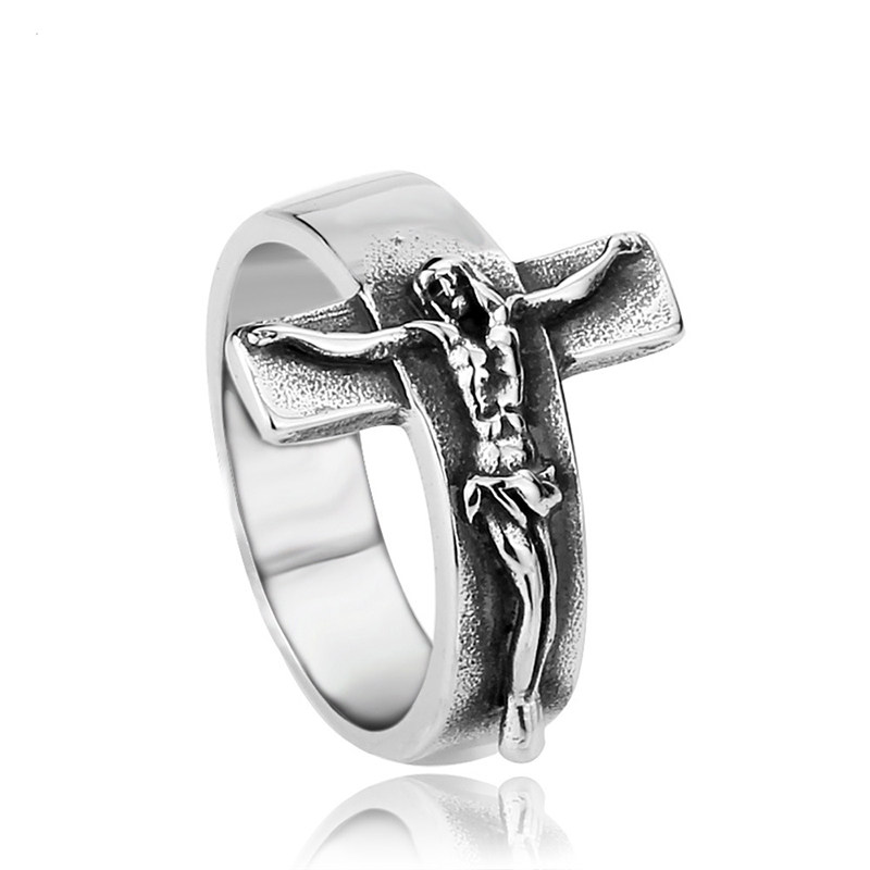 Beier Fashion Jesus Cross Ring 316L Stainless Steel Cool High Quality Men  Jewelry alibaba-express free shipping BR8-134