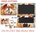 Бесплатный Резки Красочный Ноутбук Наклейки пыленепроницаемая Личность ПВХ Шкуры Защитный Ноутбук Этикета Наклейки Для Lenovo B590 G570