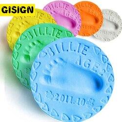 Bebé huella limo de modelado de arcilla de secado al aire jugar Luz Juguetes de arcilla de polímero de plastilina huella impresión Kit DIY juguete