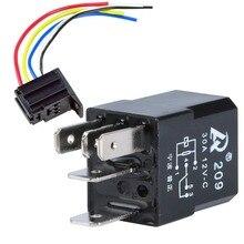цена на 5Pcs 12V 30A Car Auto SPDT Relay & Socket Kit For Electric Fan Fuel Pump Horn  5P 5 Wire