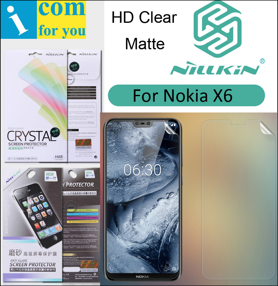 Nillkin Matte HD Clear Screen Protective Film For Nokia 6.1 5.1 Plus X6 X5 Soft Transparent Crystal nokia 8 new 2018