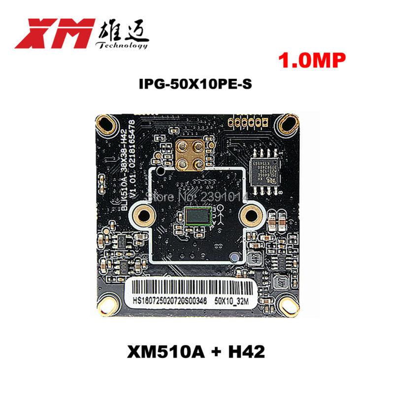 1.0MegaPixel CMOS ONVIF IP Camera Module 720P IP Camera Board Via Chip XM510