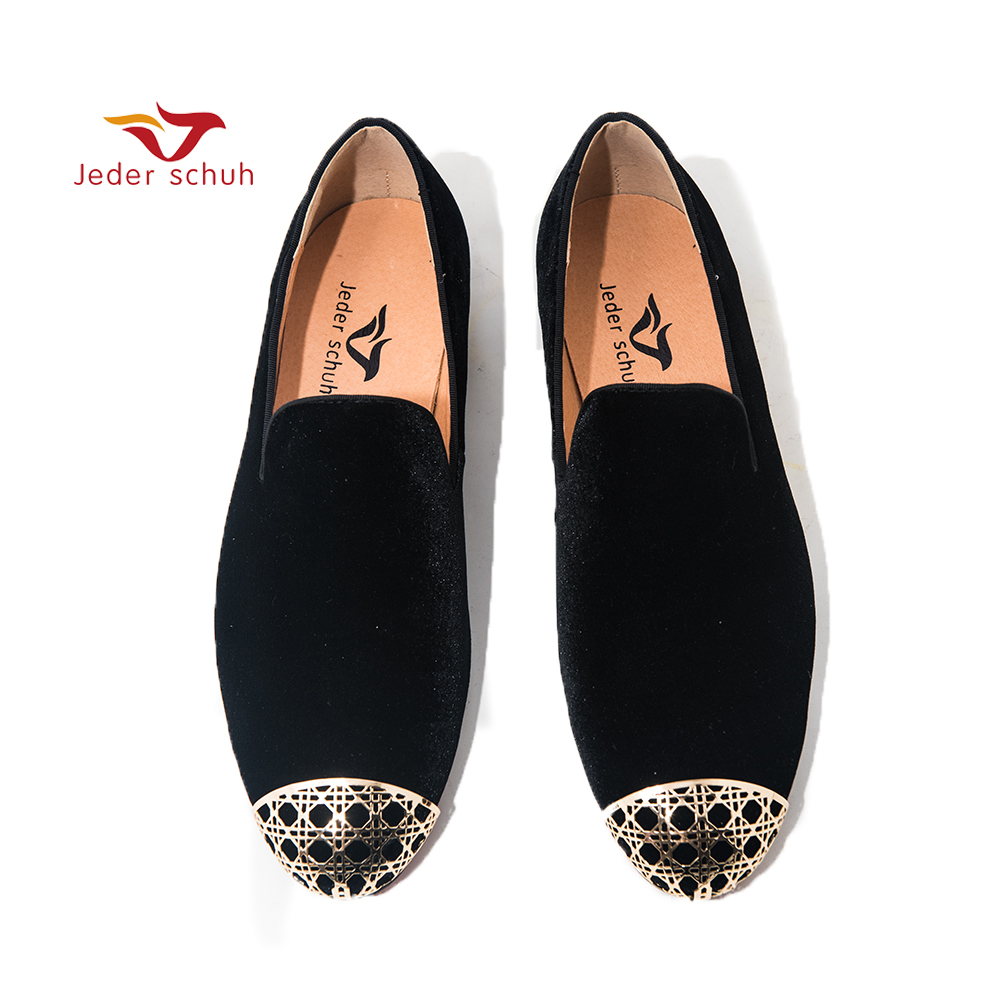 Jeder Schuh Men Shoes loafers Hollow Metal Toes Simple Fashion Shoes Banquet and Wedding Shoes Men 39 s flats casual Shoes in Men 39 s Casual Shoes from Shoes