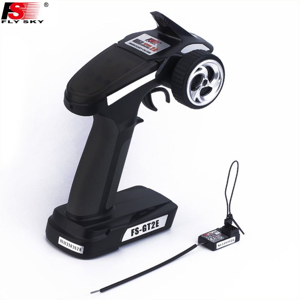 Image 2 - 1pcs Original Flysky Transmitter FS GT2E AFHDS 2A 2.4g 2CH Radio System for RC Car Boat with FS A3 Receiver(No Box)-in Parts & Accessories from Toys & Hobbies