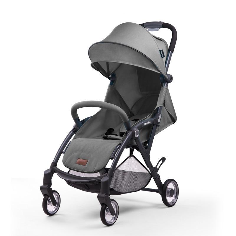 Explosion bébé poussette légère pliante poussette portable bébé enfant mini poussette peut s'asseoir inclinable poche parapluie