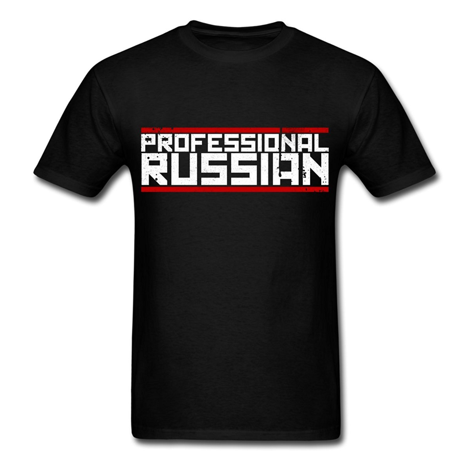 Fashion Tee Shirts 100% Cotton FPS Russia - Professional Russian Mens T-Shirt male O-Neck T Shirt short tops tee Black