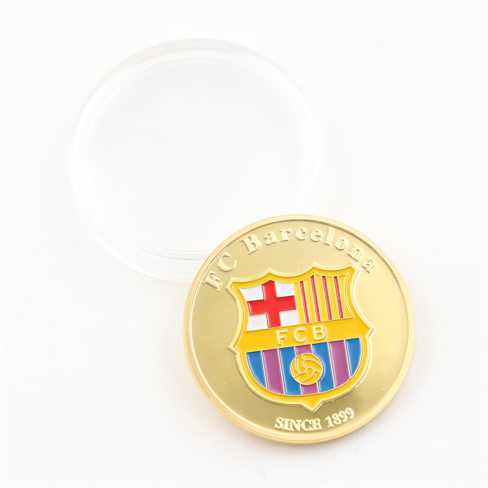 1Pc Soccer Player Gold Coins Collectibles Soccer Football Superstar Lionel Messi Commemorative Coin Collection Gift