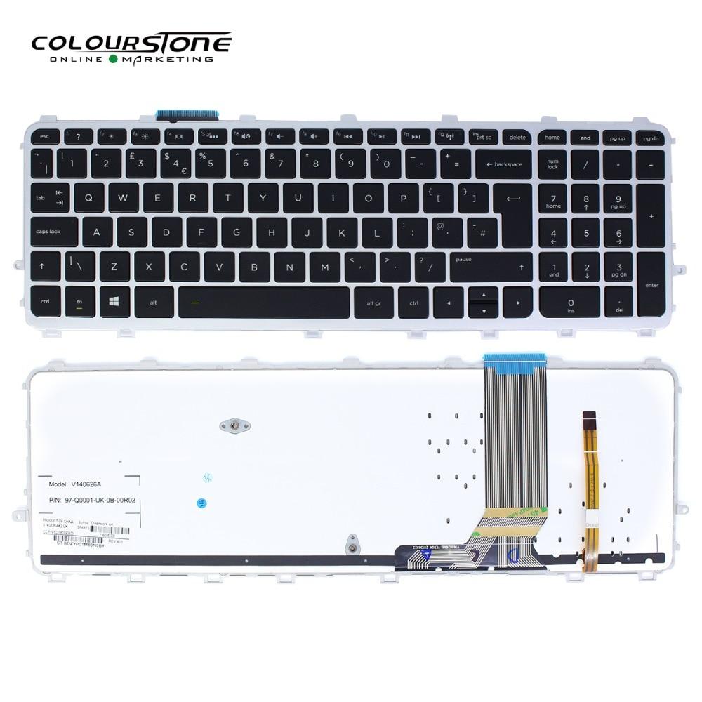 15 J UK Laptop keyboard for HP 17 j 15Z J 17T J with frame With backlit original notebook keyboard teclado