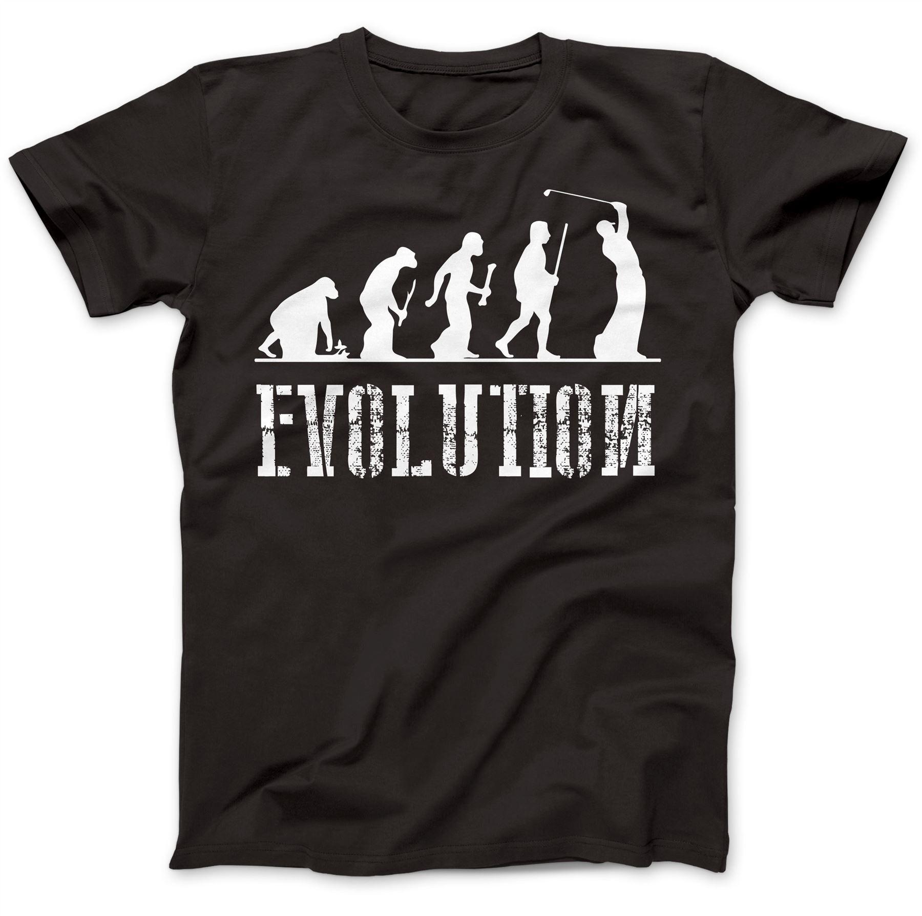 Golfer Golfer Evolution T-Shirt 100% Premium Cotton Golfing Course Green Fashion Cotton T Shirts Sleeve Harajuku Tops