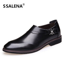 Luxury Brand Leather Shoes Men Business Dress Pointy Slip On Shoes Male Breathable Formal Wedding Basic Shoes AA10043