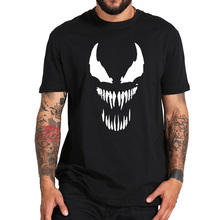 Venom Anime Fashion Men Originality Spiderman Cotton Fitness T-shirt