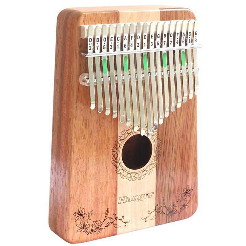 Flanger 17 C Llave Dedo Kalimba Mbira Pulgar Bolsillo Tamaño Principiantes Piano Soporte Bolsa Teclado Marimba Instrumento Musical De Madera Para EnvíO RáPido