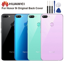 Original Glass Battery Rear Case For Huawei Honor 9i Back Cover Phone Backshell Cases
