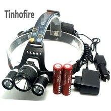 5000LM JR-3000 3X CREE XML T6 4 режима фары для свет Открытый Спорт Отдых на природе света + 2×3000 мАч аккумулятор + автомобиль/зарядное устройство