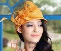 Бесплатная Доставка Новое Прибытие Женщин Летом Случайные Все Матч Sinamay Hat Летняя Шляпа С Пером Выросли Два Чистых Цветов, Доступных