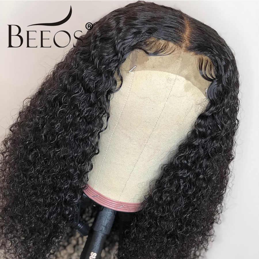 Beeos бразильские полные кружевные человеческие волосы парики предварительно сорванные натуральные волосы линия с волосами младенца кудрявые волосы remy обесцвеченные парики вида шишка-пучок